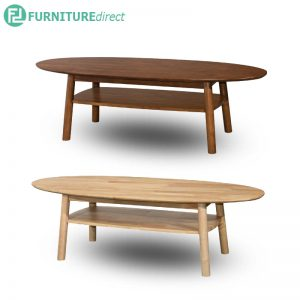 OLIVE oval coffee table - Full Solid Rubberwood