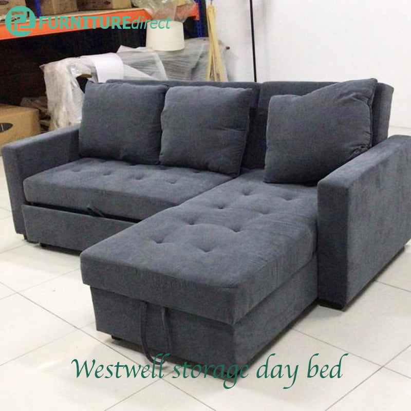 Superb Westwell 3 Seater L Shaped Storage Daybed Sofa Bed Alphanode Cool Chair Designs And Ideas Alphanodeonline