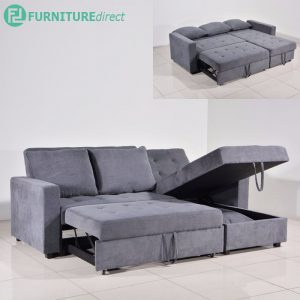 WESTWELL 3 seater L shaped storage daybed sofa bed