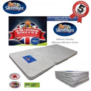 UK Branded Silentnight tri-fold foldable single size mattress