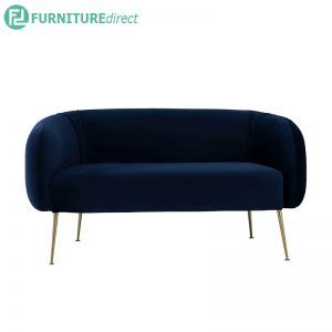 ALERO 2 seater velvet fabric sofa- 2 colors
