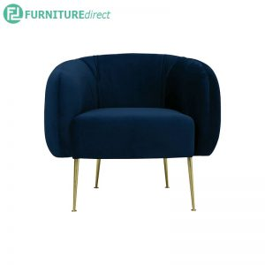 ALERO 1 seater velvet fabroc sofa -2 colors