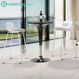 MIDGATE bar chair with cushion - WHITE