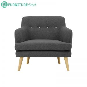 EXELERO 1 seater sofa with armchair - (Upholstery) 100% Polyester - 3 colors