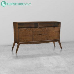 CURVE Buffet Full Rubberwood - Walnut