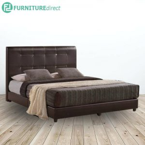 ALFRED 12650 queen size PVC divan bed frame with diamond feature