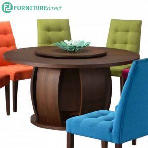 CORAL solid wood 1.5meter round table-walnut
