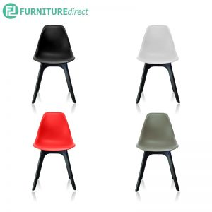 CASTLES chair black, white, red & grey color