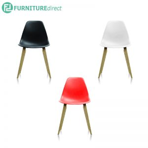 PORTGER chair black, white & red color