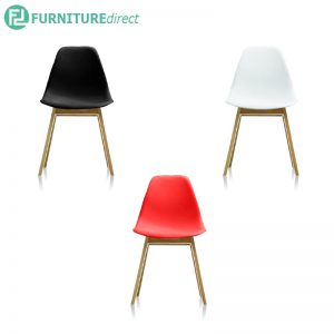 ALNAGE chair black, white & red color