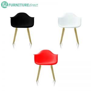STANEL chair black, white & red color