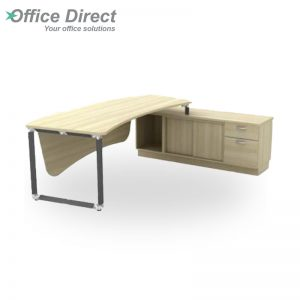 Q-OXR2462 Director Table Set with 1 drawer and 1 file drawer - Maple
