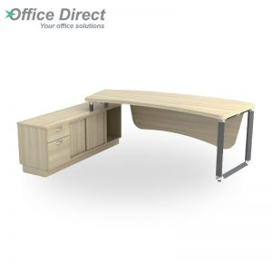 Q-OXL2462 Director Table Set with 1 drawer and 1 file drawer - Maple