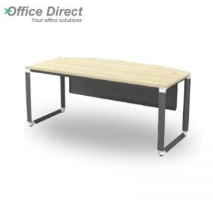 OMB 180A Executive Table with Metal Front Panel - Maple