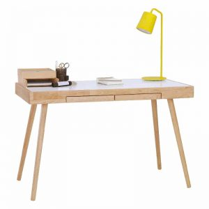 RUTH Solid wood 4 feet study desk with 2 drawers