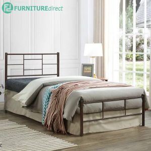 SB143 single size metal bed frame-copper