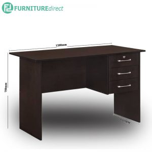 ST9588 study desk with 3 drawers-dark brown