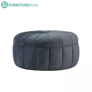 PROBE Ø87cm Ottoman - 100% Polyester velvetic fabric - 2 colors