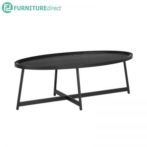 WAGNER (Oval 120cm) Coffee Table - Black
