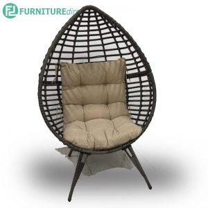 Designer wicker egg chair