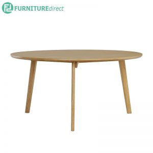 ORIEL (Ø90cm) Coffee Table - Solid Rubberwood