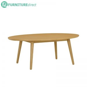 ORINGO (Oval 118cm) Coffee Table - Oak veneer