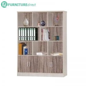 BC-4573 4 feet bookcase with door-Light Oak
