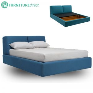 DANKER queen size fabric platform storage bed- 4 colors