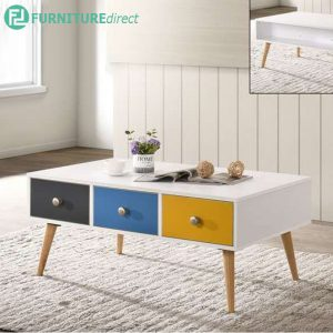 DS9893 scandinavian 3 drawer coffee table