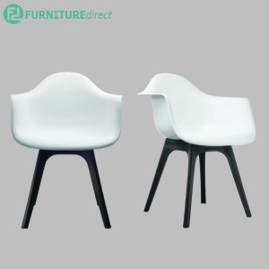 DIJON arm chair in plastic legs- 3 colors