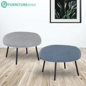 JUSTY Ø65cm fabric ottoman stool - 2 colors