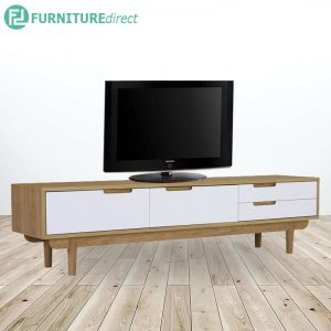 NAKULA wood veneer finish 6 feet TV cabinet