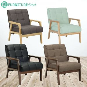 TUCSON 1 seater solid wood frame sofa- 4 colors