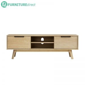 NOUD TV Console 150cm (5ft) - Solid Rubberwood - OAK