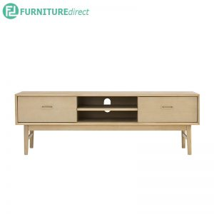 HAMPTON TV Console 150cm (5ft) - Solid Rubberwood - Oak