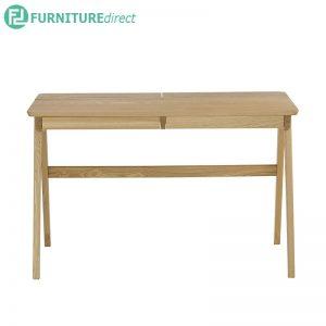 KEIR (117cm) Working Desk - Full Solid Rubberwood