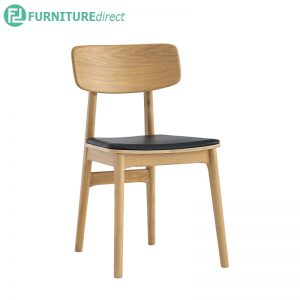 TACY (46cm) Side Chair - Full Solid Rubberwood - Oak