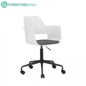 LAXMI Office Chair with 360° degree and height adjust - White / Black