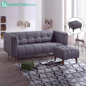 NTOBRAN 3 seater sofa with stool - L183cm