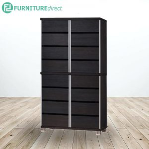 COMBI SC-442 tall 8 tier shoe cabinet with aluminium handle