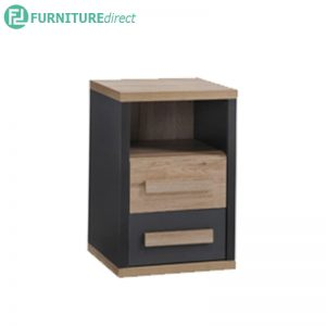 TAD KOBI 2 drawers bedside table,bedside cabinet, bedside drawer