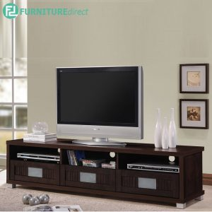 TAD HUDA 160cm TV cabinet 6ft with glass door - Wenge