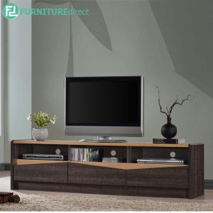 TAD LEENA 6 feet TV cabinet with 3 drawers - wenge