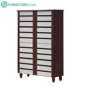 TAD ENYA 4 door high shoe rack cabinet - Walnut