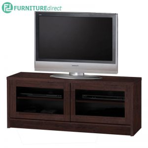 TAD XENA 4 feet tv cabinet with glass door - Oak