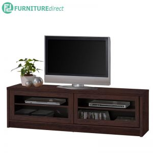 TAD XENA 5 feet tv cabinet with glass door - Oak