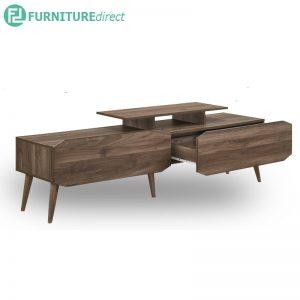 TAD MAJA 5 feet TV cabinet with 2 drawers - Walnut