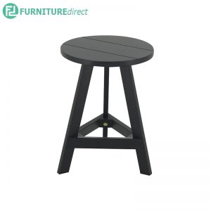 YUMI solid rubberwood round Stool -Black and White colors