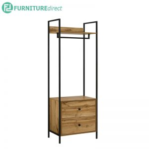 TAD NORMAD industrial deisng garment rack with 2 drawers
