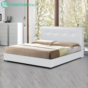 TAD GIOVANNI waterproof PVC divan queen bed frame-white